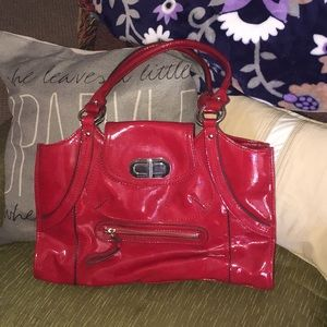 Franco Sarto Cherry Red Faux Patent Leather Purse